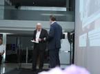 Wilfried Graf, président du CA, et Ralf Exel, qui a présenté la soirée.