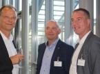 ESA-CEO Giorgio Feitknecht, Autoscout-Director Christoph Aebi und Diego De Pedrini, Sekretär AGVS-Sektion Zürich. Le CEO d'ESA Giorgio Feitknecht, le directeur d'Autoscout Christoph Aebi et le secrétaire de la section zurichoise de l'UPSA Diego De Pedrini.
