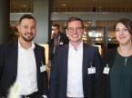 L'équipe d'Eurotax : (de g. à dr.) Özkan Kösker, Mario d'Incau et Patricia Schaufelberger.