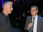 Le CEO sortant de Scout24 Olivier Rihs (à g.) en entretien avec Marcel Stocker de Digital Enterprise